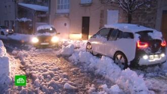 Снегопады устроили коллапс во Франции, Австрии и Италии