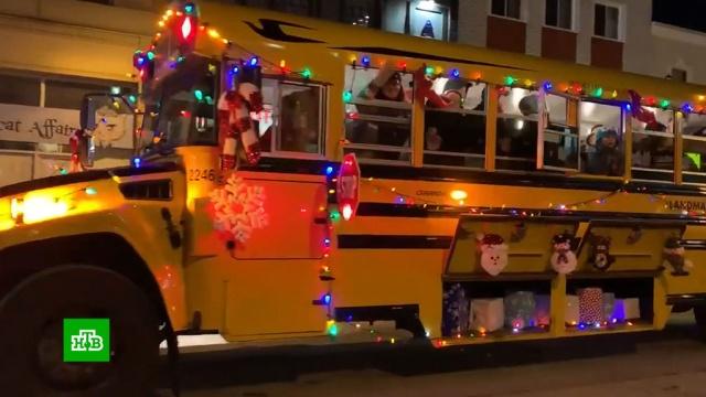 Парад Санта-Клауса вКанаде.Дед Мороз, Канада, благотворительность, парады.НТВ.Ru: новости, видео, программы телеканала НТВ