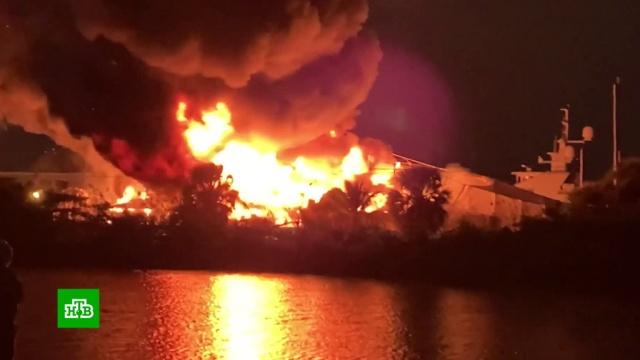 Во флоридском порту сгорели яхты за 20 миллионов долларов.США, корабли и суда, пожары.НТВ.Ru: новости, видео, программы телеканала НТВ