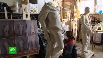 Петербургские реставраторы возвращают молодость скульптурам из усадьбы «Кусково»