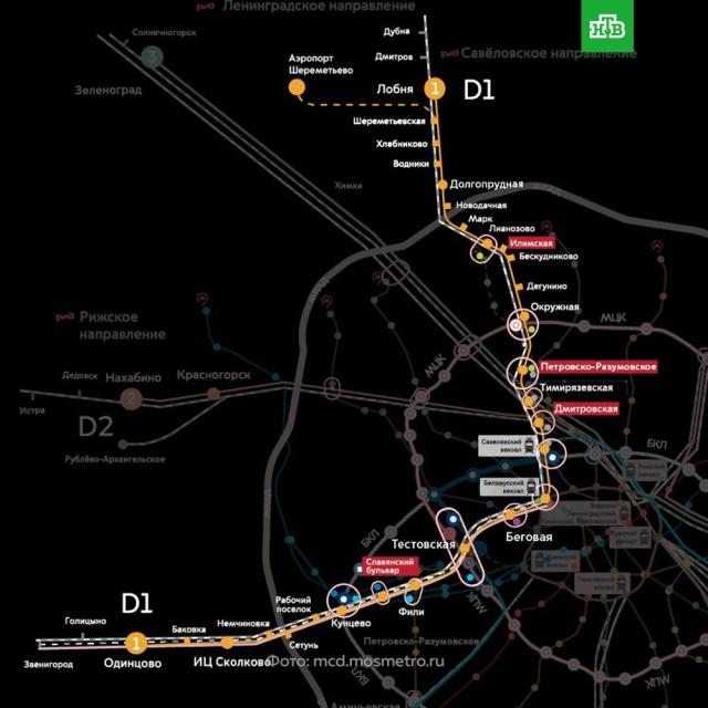 карта метро москвы 2020 с мцд 1