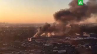 Крупный пожар в Новой Москве