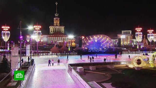 На ВДНХ открыли один из самых больших катков.Москва, зима.НТВ.Ru: новости, видео, программы телеканала НТВ