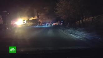 Легковушка вНальчике врезалась вгазопровод иустроила крупный пожар