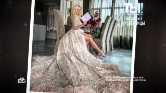 Яна Рудковская приехала на бал в платье-портьере