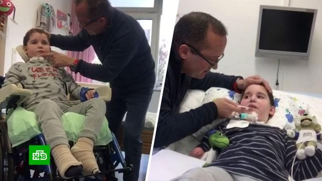 Россиянин вГермании выхаживает сына-инвалида.болезни, Германия, дети и подростки, здоровье, несчастные случаи.НТВ.Ru: новости, видео, программы телеканала НТВ