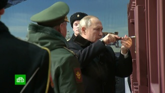Путин принял участие взакладке патрульного корабля ледового класса