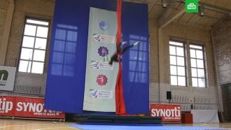 Российская гимнастка сорвалась свосьмиметровой высоты