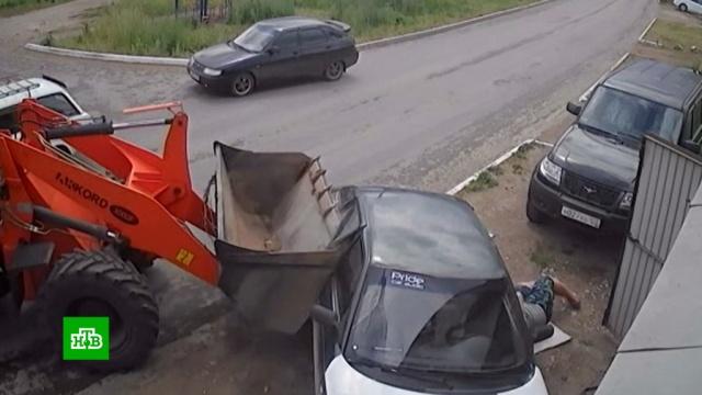Задавивший человека водитель погрузчика заявил, что напился после аварии.Башкирия, ДТП, суды.НТВ.Ru: новости, видео, программы телеканала НТВ