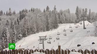 ВСочи раньше срока открылись лыжные трассы