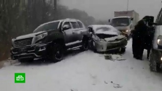 Мощный снегопад вПриморье привел кмассовому ДТП изадержке рейсов