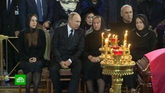 Путин прибыл на церемонию прощания сЛужковым