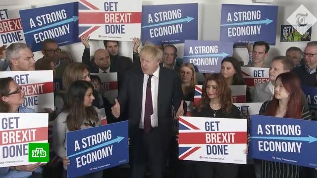 Бориса не остановить: британцы проголосовали за Brexit.Великобритания, Джонсон Борис, выборы.НТВ.Ru: новости, видео, программы телеканала НТВ