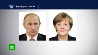 Путин иМеркель по телефону обсудили вооруженный конфликт вЛивии