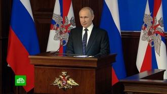Путин заявил омировом лидерстве России ввооружениях