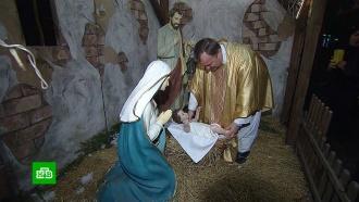 ВМоскве католики собрались на рождественскую службу