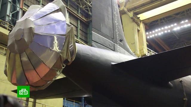 Первую серийную подлодку проекта «Ясень-М» спустили на воду.вооружение, подлодки.НТВ.Ru: новости, видео, программы телеканала НТВ