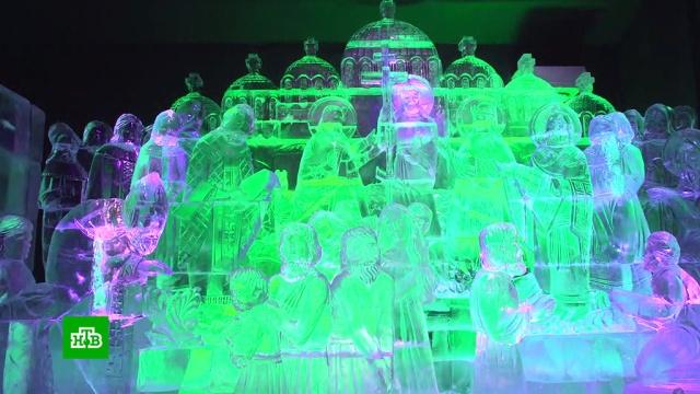 Дед Мороз исполняет желания на фестивале «Ледовая Москва».Москва, НТВ, торжества и праздники, фестивали и конкурсы.НТВ.Ru: новости, видео, программы телеканала НТВ