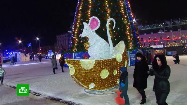 Во Владивостоке восстановили сбитый лихачом символ 2020 года.Владивосток, Дальний Восток, Новый год, торжества и праздники.НТВ.Ru: новости, видео, программы телеканала НТВ