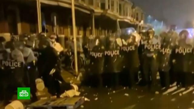 В Филадельфии разгромили и разграбили магазины после гибели вооруженного чернокожего.США, беспорядки, митинги и протесты.НТВ.Ru: новости, видео, программы телеканала НТВ