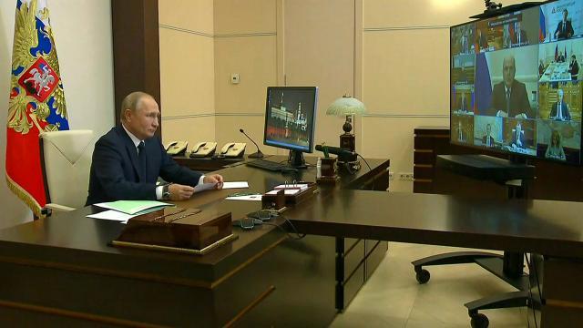 Совещание Путина справительством.Владимир Путин проводит совещание с правительством. Главная тема обсуждения — организация помощи детям с тяжелыми и редкими заболеваниями.НТВ.Ru: новости, видео, программы телеканала НТВ