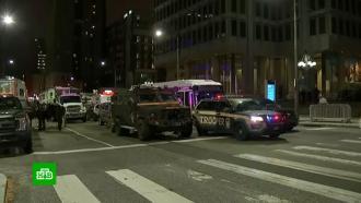 В Филадельфии из-за массовых беспорядков ввели комендантский час.Комендантский час в Филадельфии начал действовать накануне в девять вечера и завершится через несколько часов.США, Трамп Дональд, беспорядки, митинги и протесты.НТВ.Ru: новости, видео, программы телеканала НТВ