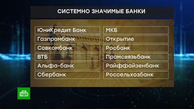 ЦБ расширил список системно значимых банков.Центробанк, банки, экономика и бизнес.НТВ.Ru: новости, видео, программы телеканала НТВ