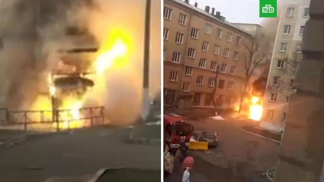 Момент взрыва в челябинской поликлинике.больницы, взрывы, коронавирус, пожары.НТВ.Ru: новости, видео, программы телеканала НТВ