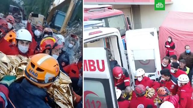 Спасение трехлетней девочки из-под завалов вИзмире.Турция, дети и подростки, землетрясения, поисковые операции.НТВ.Ru: новости, видео, программы телеканала НТВ