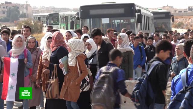 Жители поселков на западе Сирии начали возвращаться всвои дома.Сирия, беженцы, войны и вооруженные конфликты.НТВ.Ru: новости, видео, программы телеканала НТВ