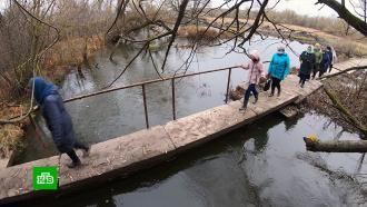 Жители курского села не могут добиться строительства дороги и моста