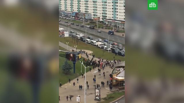 В Минске начались задержания на акции оппозиции.Белоруссия, Лукашенко, интервью, задержание, митинги и протесты.НТВ.Ru: новости, видео, программы телеканала НТВ