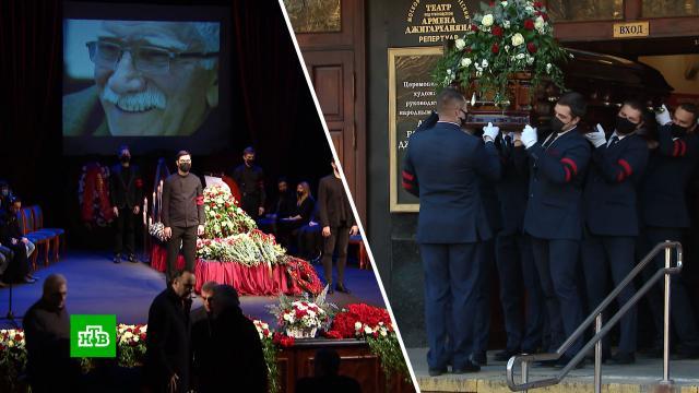 Армена Джигарханяна похоронили на Ваганьковском кладбище.знаменитости, похороны, Москва, артисты, смерть, театр, Джигарханян Армен, шоу-бизнес.НТВ.Ru: новости, видео, программы телеканала НТВ