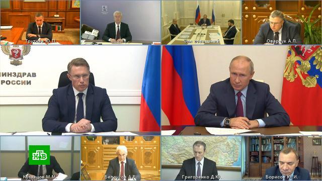 «Двое суток— это долго»: Путин оценил скорость тестирования на COVID-19.Голикова Татьяна, Путин, коронавирус, медицина, эпидемия.НТВ.Ru: новости, видео, программы телеканала НТВ