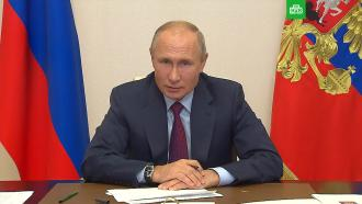 Путин сравнил работу врачей во время эпидемии <nobr>COVID-19</nobr> своенным подвигом