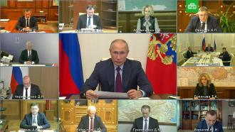 Путин обсуждает справительством ситуацию с<nobr>COVID-19</nobr>
