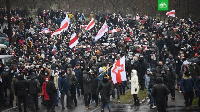 На акциях протеста вМинске задержали более 200человек.Белоруссия, Минск, задержание, митинги и протесты.НТВ.Ru: новости, видео, программы телеканала НТВ