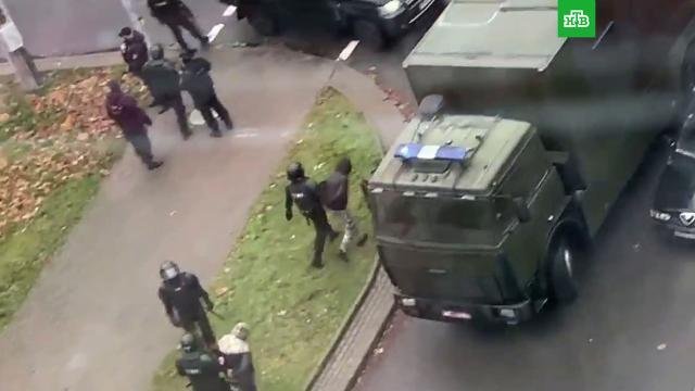 ВМинске начались задержания участников акции протеста.Белоруссия, Минск, задержание, митинги и протесты.НТВ.Ru: новости, видео, программы телеканала НТВ
