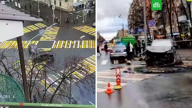 Машина сбила пешеходов вМоскве, один человек погиб.ДТП, Москва.НТВ.Ru: новости, видео, программы телеканала НТВ