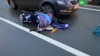 В Петербурге водитель сбил мать с младенцем и маленькой девочкой
