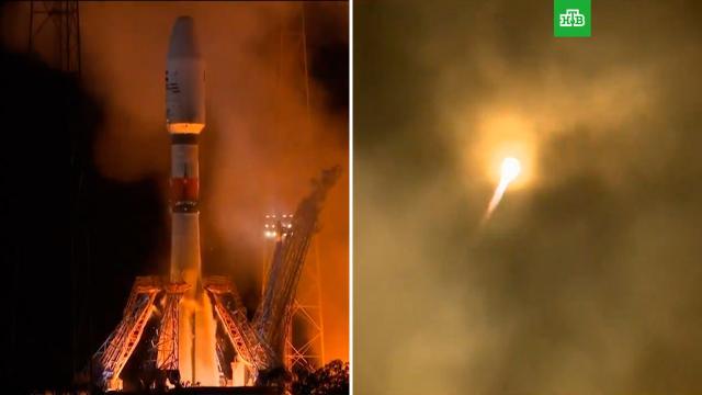 Российская ракета «Союз-СТ-А» со спутником стартовала скосмодрома Куру.ОАЭ, Роскосмос, запуски ракет, космос, спутники.НТВ.Ru: новости, видео, программы телеканала НТВ
