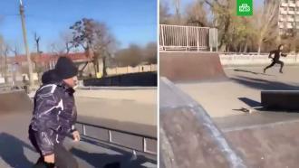 Разъяренный мужчина выстрелил в катавшегося в скейтпарке подростка