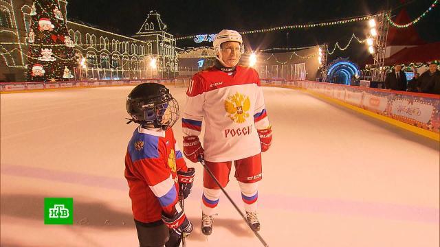Путин исполнил мечту мальчика ивышел вместе сним на лед.Новый год, Путин, дети и подростки, подарки, торжества и праздники.НТВ.Ru: новости, видео, программы телеканала НТВ