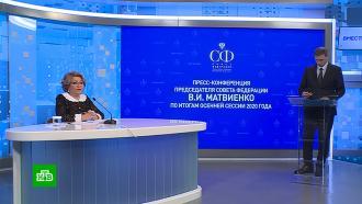 Матвиенко назвала три самых важных закона уходящего года