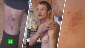 Муж наказал любовника жены черенком от лопаты ипосадил на цепь