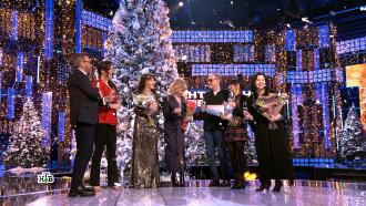 Евгений Маргулис извезды шоу «Суперстар» поздравили зрителей НТВ сНовым годом.НТВ.Ru: новости, видео, программы телеканала НТВ