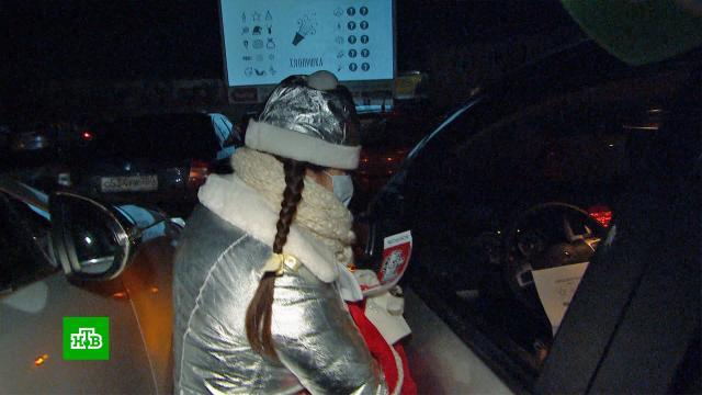 ВКалининграде на парковке устроили автоелку.Калининград, Новый год, автомобили, торжества и праздники.НТВ.Ru: новости, видео, программы телеканала НТВ