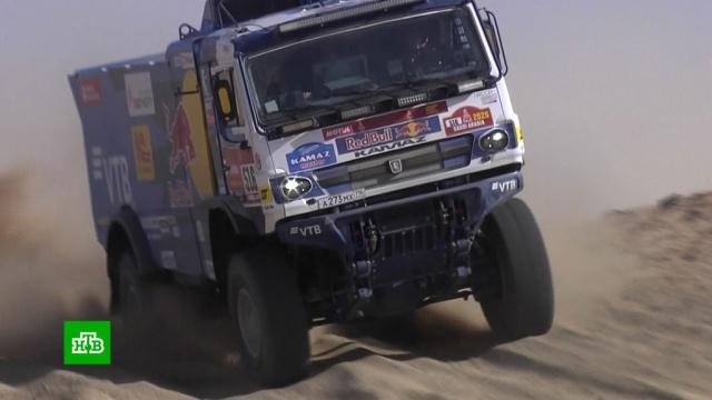Экипаж «КамАЗ-мастер» выиграл первый этап «Дакара».автомотоспорт, Дакар, КамАЗ-мастер, Саудовская Аравия.НТВ.Ru: новости, видео, программы телеканала НТВ