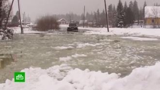 Енисей вышел из берегов из-за аномально теплой зимы