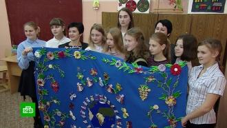 В Тамбовской области сшили «Ковер дружбы» из тканей со всего мира